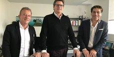 Philippe Rivière, Jean-Luc Boixel et Hugues Galambrun, les dirigeants-fondateurs de Septeo