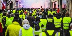 Manifestation des Gilets jaunes rue Sainte-Catherine, à Bordeaux, le 19 janvier 2019.