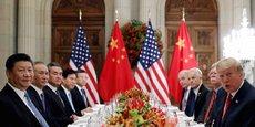 La rencontre entre les délégations des Etats-Unis et de la Chine, le 1er décembre 2018, en marge du G20, à Buenos Aires, pour négocier un accord commercial entre les deux pays.