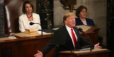 Le président américain Donald Trump s'exprime de le Congrès américain mardi 6 février.