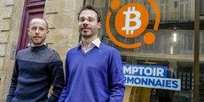 François Miquel et Baptiste Lac, cofondateurs du Comptoir des cybermonnaies