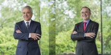 Philippe Rondot et Francis Stéphan, respectivement président et directeur général du bailleur social Domofrance, filiale d'Action Logement Immobilier