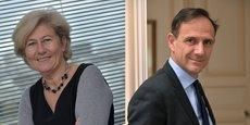 Olivier Sichel, directeur, et Marianne Louradour, directrice régionale Ile-de-France de la Banque des territoires.