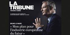 La une de La Tribune nouvelle formule, disponible le 15 février