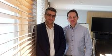 Marc Brière, président du directoire d'Arkéa Capital, et Franck Callé, directeur régional