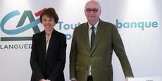 V. Flachaire et J. Boyer, respectivement DG et président du Crédit Agricole du Languedoc