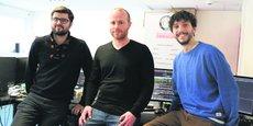 L'équipe de Transchain (de g. à dr. : Pierre Banzet, Timothée Brugière et Robin Turon-Lagot).