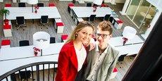 Clara et Valentin Morel, cofondateurs de Locomotiv'