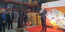 Philippe Wahl, président-directeur général du groupe La Poste, a rappelé les ambitions de la Poste, qui souhaite accompagner, à travers ce projet, la logistique du 21e siècle.