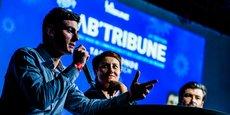 Trois des débatteurs du Lab'Tribune : S. Roques (Evo Pods), V. Monnier-Mangue (EDF) et M. Pellegrini (Suez Eau France)
