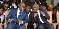 Felix Tshisekedi et Joseph Kabila,le 27 février 2019, au Palais de la Nation à Kinshasa, la capitale de la RDC.