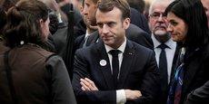 Emmanuel Macron, en visite au Salon de l'Agriculture à Paris.