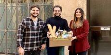 Le trio des fondateurs de la startup Aufert (Benjamin, Baptiste et Claire de gauche à droite sur l'image), ambitionne de s'étendre à d'autres villes de France.