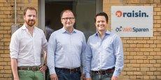 Les trois fondateurs de Raisin : Tamaz Georgadze (CEO), Frank Freund (CFO) et Michael Stephan (COO).