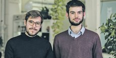 Jérémie Cognard (à g.) et Romain Vandame comptent ouvrir leur unité de production près de l'Agrocampus Ouest.