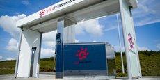 Une station à hydrogène à l'étranger.