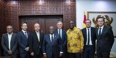 Le président ghanéen à l'issue de son audience avec les responsables de Suzuki Motor, CFAO et Toyota Tsusho.