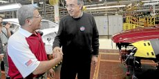 Sergio Marchionne, double patron de  Fiat et de Chrysler, à l'usine de Sterling Heights (Michigan).Copyright Reuters