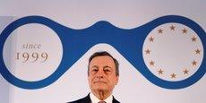 Mario Draghi ce mercredi à Francfort lors d'une conférence de presse.