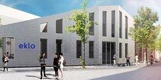 Le futur hôtel Eklo est situé à quelques centaines de mètres de la station Jardin botanique sur la ligne A du tramway.