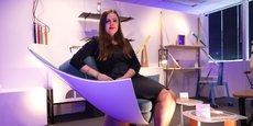 La designeure nantaise Christelle Doutey a créé un fauteuil avec un nez d'avion d'A350.