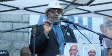 Le président sortant Azali Assoumani, lors de la campagne présidentielle, le 20 mars 2019 dans lé région de Kouwa aux Comores.
