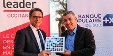 B. Viguier (BPS) et J. Benabdillah (LeadeR Occitanie), lors de la signature du partenariat