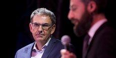David Kimelfeld, président de la Métropole de Lyon lors des deuxièmes rencontres Tous partenaires pour réussir l'insertion au Cirque Imagine à Vaulx-en-Velin le 28 mars dernier.