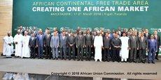 La ZLECA devrait couvrir un marché de 1,2 milliard de personnes, représentant un produit intérieur brut (PIB) de 2 500 milliards de dollars de 55 États membres de l'Union africaine.