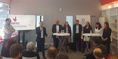 Frédéric Salles, entouré des membres du board qui ont porté le dossier French Tech Méditerranée