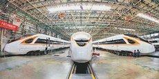 Les lignes de fabrication des trains à grande vitesse Fuxing dans le site de production de CRRC à Tangshan, dans la province chinoise du Hebei.