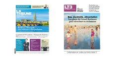 La Une de l'hebdomadaire de La Tribune et celle du cahier spécial Bordeaux