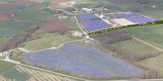 La centrale photovoltaïque de Drambon (21), construite par Engie Green pour Suez, a été inaugurée le 8 avril 2019.