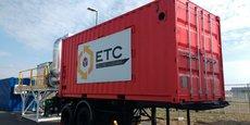L'accumulateur de chaleur, sous forme de container métallique, développé par Eco-Tech Ceram