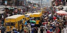 Contre la paralysie, services ubérisés, applis et transports verts foisonnent. Ici Lagos, au Nigeria..