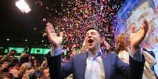 Vladimir Zelenski au soir de sa victoire en Ukraine, le 21 avril, avec près des trois quarts des suffrages exprimés.