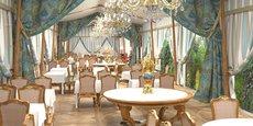 Les nouveaux aménagements du restaurant Les Grands Buffets de Narbonne.