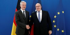 Le ministre de l'Economie français Bruno Le Maire avec son homologue allemand Peter Altmaier.