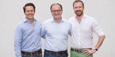 Les trois fondateurs de Raisin : Michael Stephan (directeur opérationnel), Tamaz Georgadze (directeur général), Frank Freund (directeur financier).