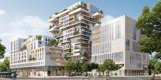 Construction à ossature bois de 57 mètres de haut, qui sera érigée près de la gare Saint-Jean par Eiffage et Woodeum, la tour Hypérion sera une première mondiale.
