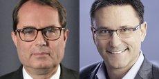 Le PDG du missilier MBDA, Antoine Bouvier (à gauche), va prendre en charge la stratégie et des affaires publiques d'Airbus. Il sera remplacé chez MBDA par Eric Béranger.