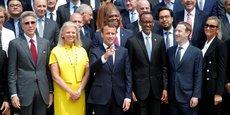 Emmanuel Macron avait déjà réuni les géants de la Tech en 2018, sur le perron de l'Elysée, pour la première édition du sommet Tech for Good.