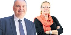Christophe Berthier, président de L'Autre Cercle, et Catherine Tripon, porte-parole de l'association.