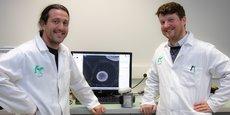 Maxime Feyeux et Kevin Alessandri, co-fondateurs de TreeFrog Therapeutics.