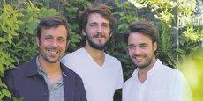 De gauche à droite, Hugo Meunier, Guillaume Hadjigeorgiori et Antoine Beaume