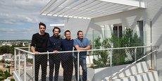 Les quatre architectes de l'Arbre Blanc à Montpellier : Dimitri Roussel, Nicolas Laisné, Sou Fujimoto et Manal Rachdi.