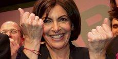 Anne Hidalgo, en mars 2014, pendant sa campagne pour l'élection à la Mairie de Paris qu'elle remporta au deuxième tour avec 53,33% des voix face à Nathalie Kosciusko-Morizet (43,72%).