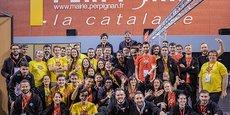 L'équipe de NTWU Événementiel durant l'événement La Catalane, premier événement e-sport du département des Pyrénées-Orientales.