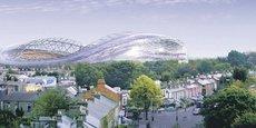 Le ciment écologique a été utilisé pour limiter l'usage d'eau lors des travaux de la superstructure de l'Aviva Stadium, à Dublin, entre 2005 et 2010.