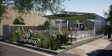 Étendue sur plus de 1.000 m2 de plain-pied à proximité du cinéma Mégarama à Bordeaux, la villa Shamengo accueillera notamment une serre bioclimatique.